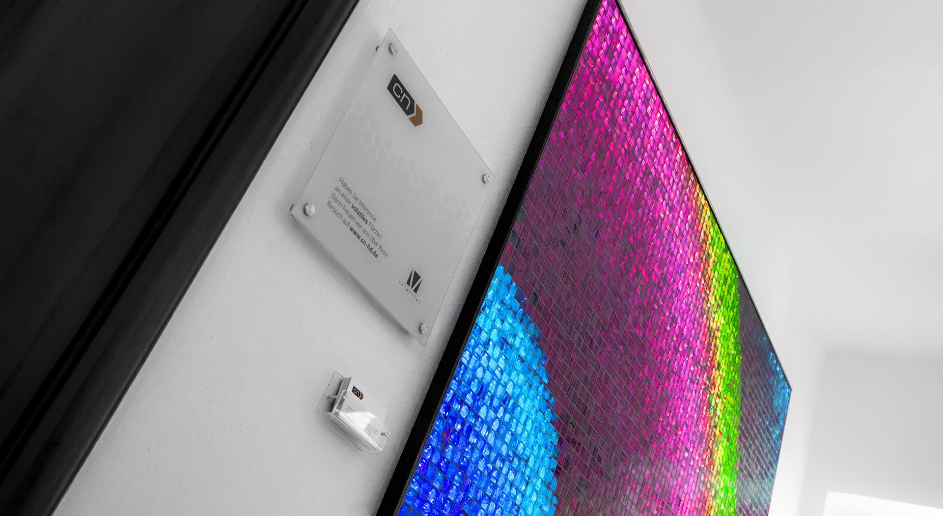volatiles LED Lichtwand